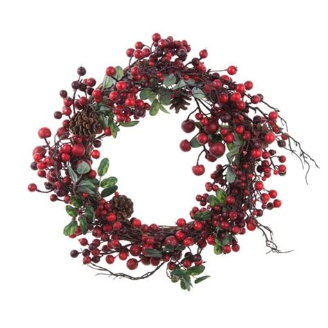 red berry wreath from leukaemia research christmas