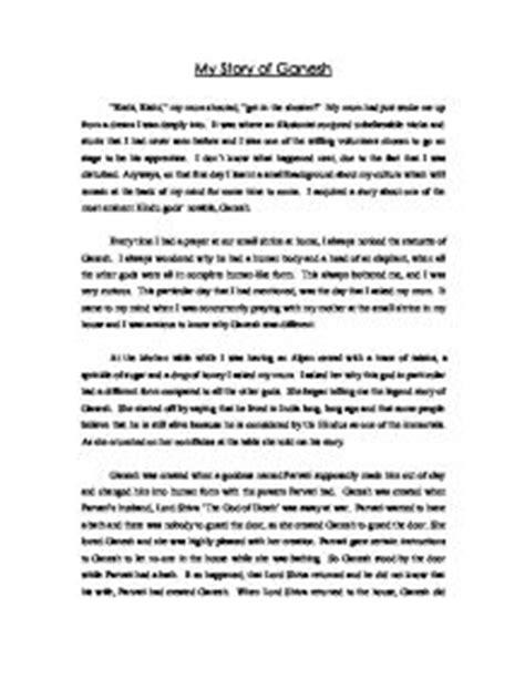 My Story Essay by My Story Of Ganesh Gcse Marked By Teachers