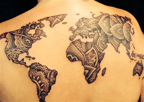 henna tattoo directions henna inspired world map by the handsome and