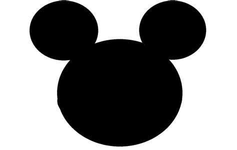 mickey mouse shape template mickey mouse clipart shape pencil and in color mickey