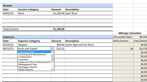 Apartment Landlord Expenses Landlord Income And Expenses Excel Spreadsheets Rental