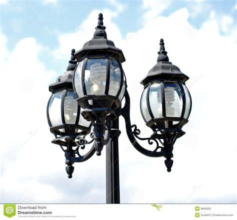 l post light bulbs l post with three lights stock photo image 9809000