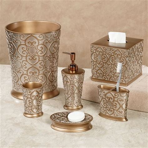 Gold Coloured Bathroom Accessories Silver And Gold Bath Accessories