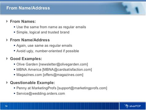 email name welcome email best practices silverpop