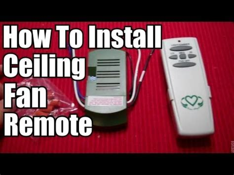 how to install ceiling fan remote diy how to install a ceiling fan remote youtube