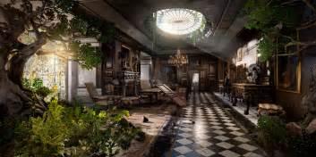 Cyberpunk Home Decor victorian room scene cgwires