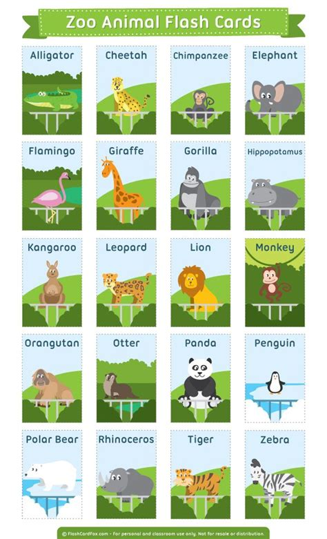 6 best images of zoo animal sorting card printables zoo free printable zoo animal flash cards download them in