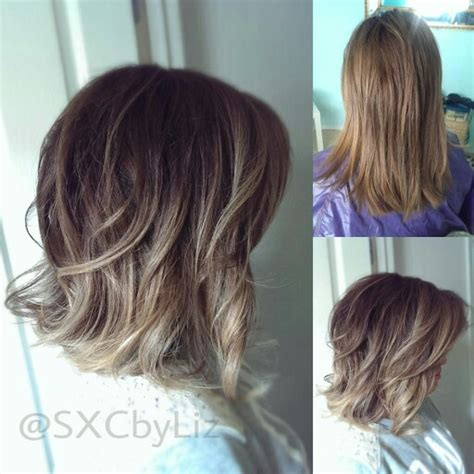 how to do ash ombre highlight on short hair beautiful long bob with balayage highlights ombre