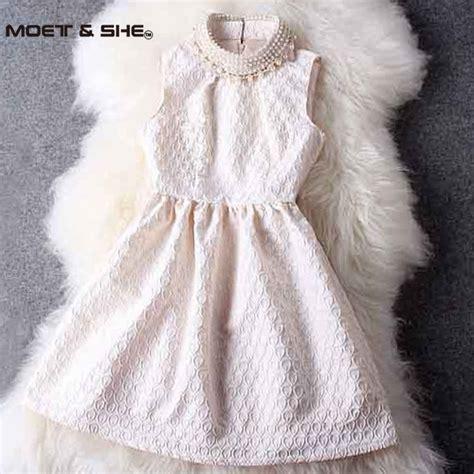 Dress Pearl pearl dress 2016 summer fashion slim stand collar