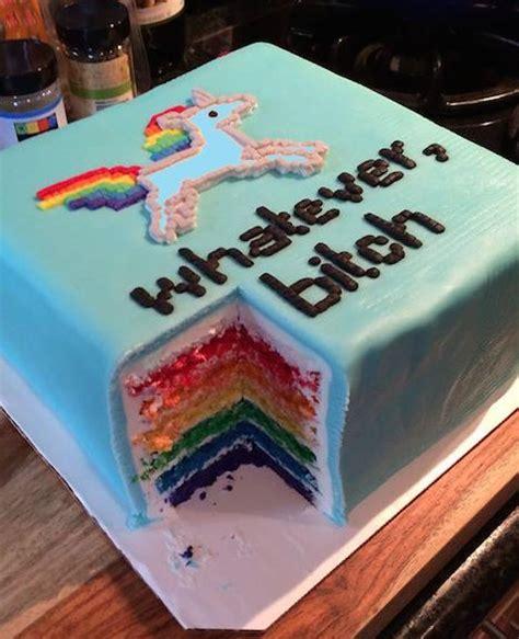 titten kuchen rainbow unicorn cakes geburtstag regenbogen einhorn und