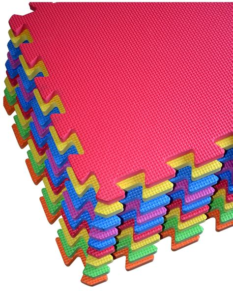 Multi Color Foam Floor Mat by Galleon Poco Divo Floor Mat 9 Tile Multi Color Exercise