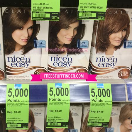 clairol nice n easy hair color only 2 50 at walgreens 2 29 reg 8 29 clairol nice n easy hair color at walgreens