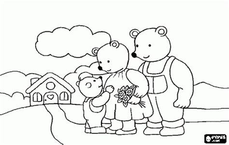 three bears coloring page goldilocks and three bears coloring pages