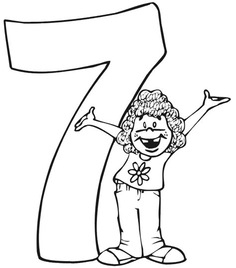 coloring page birthday girl 7th birthday coloring pages