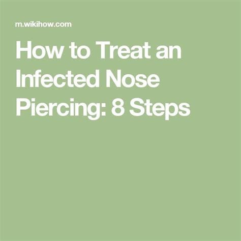 how to treat an infected tattoo at home 17 best ideas about nose piercing infection on