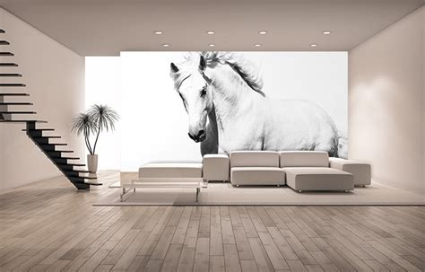 horse wallpaper for bedrooms white horse bedroom wall mural online shop