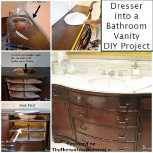 how to turn a dresser into a bathroom vanity diy project