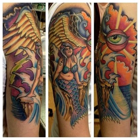 fat mermaid tattoo 21 best school tattoos ink inspiration images on