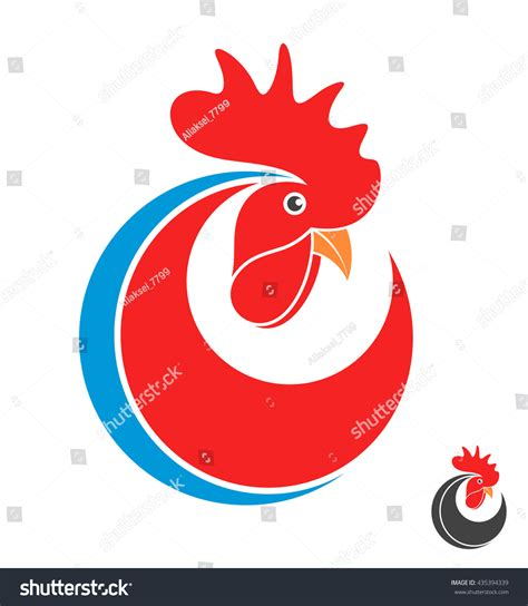 new year symbols vector rooster symbol new year 2017 logo stock vector 435394339