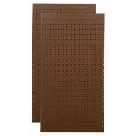 triton 1 4 in x 1 8 in heavy duty brown pegboard wall