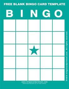 bingo template free blank bingo card template bingocardprintout