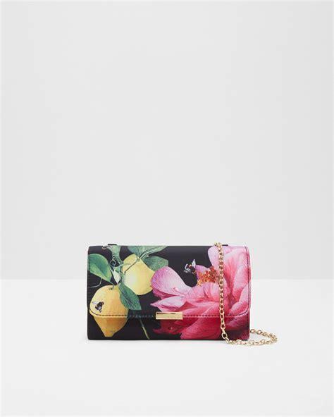 Citrus Bag ted baker citrus bloom evening bag in black lyst