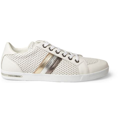 dolce gabana sneakers dolce gabbana perforated leather tri stripe sneakers