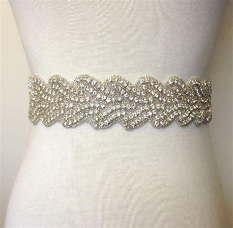 Rhinestone Belt poppy wide rhinestone diamante bridal sash wedding dress