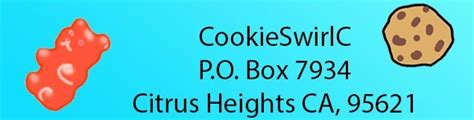 fan address address to cookieswirlc for fan mail check out on