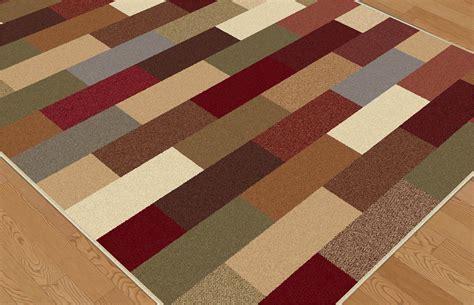 Geometric Area Rugs Contemporary Contemporary Green Blue Brown Geometric Area Rug Modern Boxes Multi Carpet Ebay