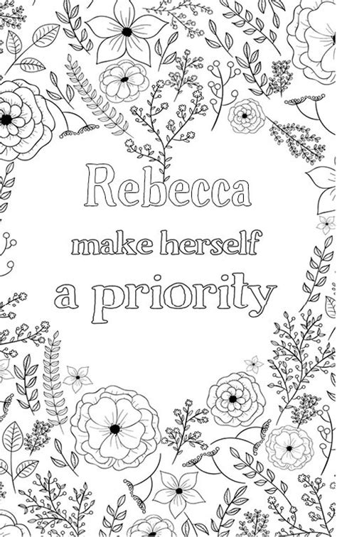 Rebecca is wonderful. The coloringbook personalised with