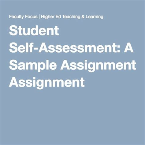 student self assessment best 25 self assessment exles ideas on