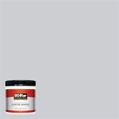 behr premium plus 8 oz 760e 2 manhattan mist interior exterior paint sle 760e 2pp the