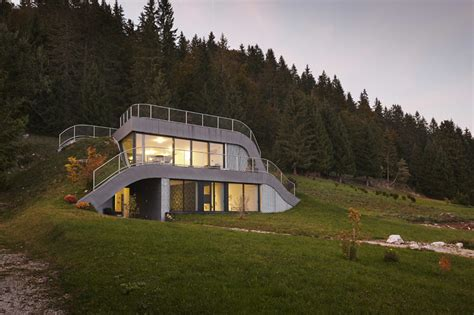 homes built into hillside this house is built into a hillside in france contemporist
