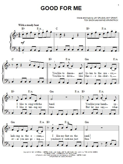 good good father sheet music direct good for me sheet music direct