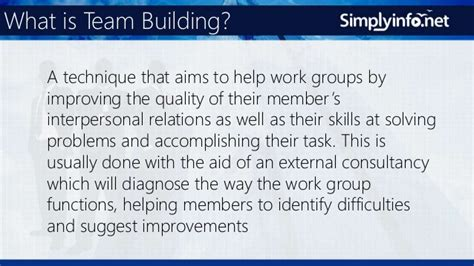 Mba Concepts by What Is Team Building Business Terms Mba Concepts