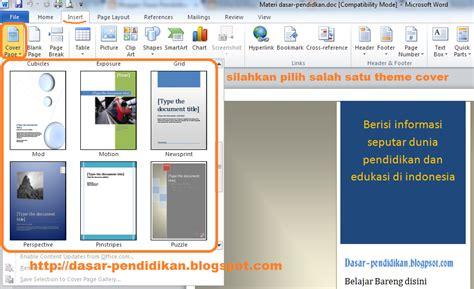 cara membuat halaman di word 2013 tanpa cover cara mudah membuat cover page di ms word