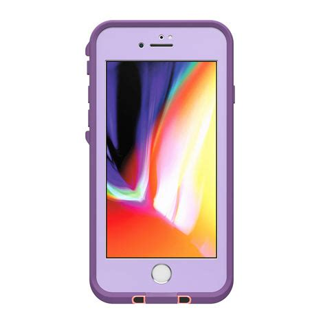 iphone 8 plus lifeproof fre coral lilac strike