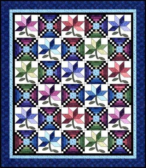 checkerboard flowers quilt free pattern quilts