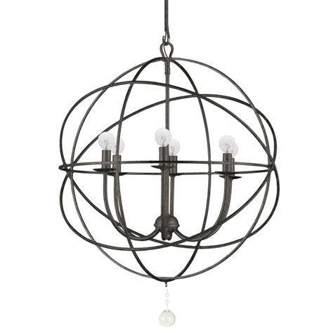 Crystorama Solaris Chandelier Crystorama Lighting 9226 Eb Bronze Solaris 6 Light 23 Quot Wide Wrought Iron Globe