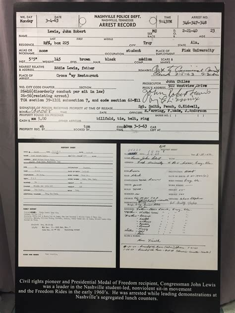 Seattle Arrest Records Nashville Arrest Records Photos Of Civil Rights Icon