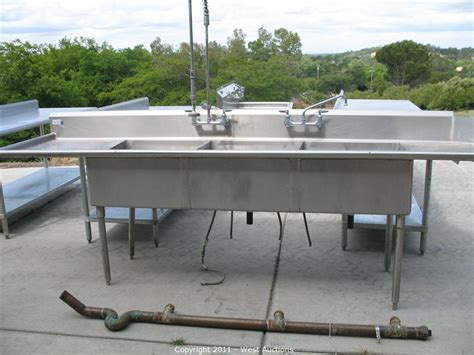 stainless steel restaurant sink auctions auction pizza restaurant equipment and