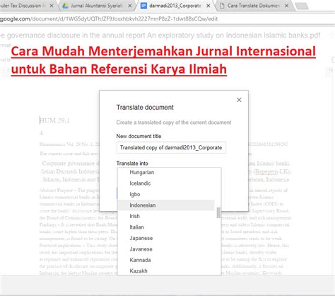 tesis akuntansi unpad cara mudah menterjemahkan jurnal internasional untuk bahan