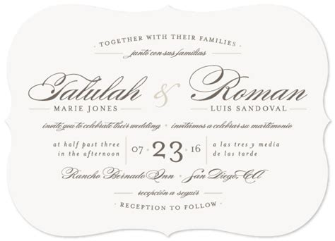 Wedding Invitations Language by Wedding Invitations Language At Minted