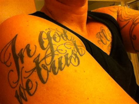 in god we trust tattoos quot in god we trust quot