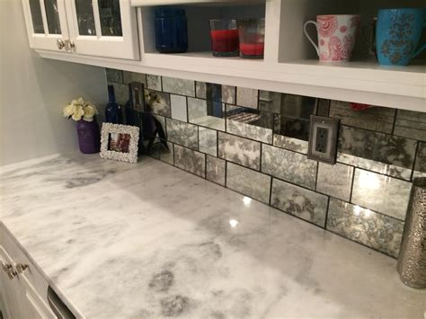 Mirrored Kitchen Backsplash by Antique Mirror The Glass Shoppe