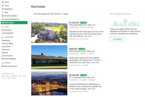 section listings neighborhood social network nextdoor launches real estate