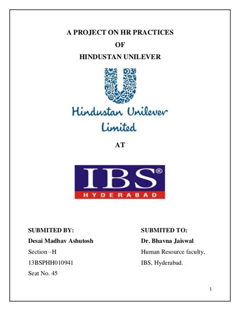 email hrd unilever hr practices at hul