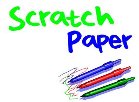 Scratch Paper - scratch paper app for iphone education