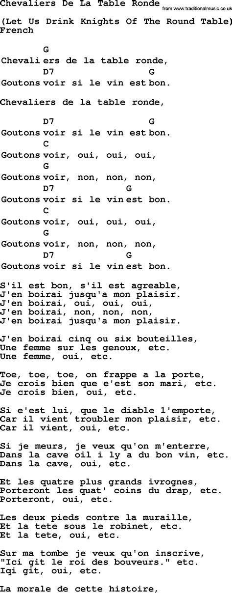lyrics chevalier top 1000 folk and time songs collection chevaliers de